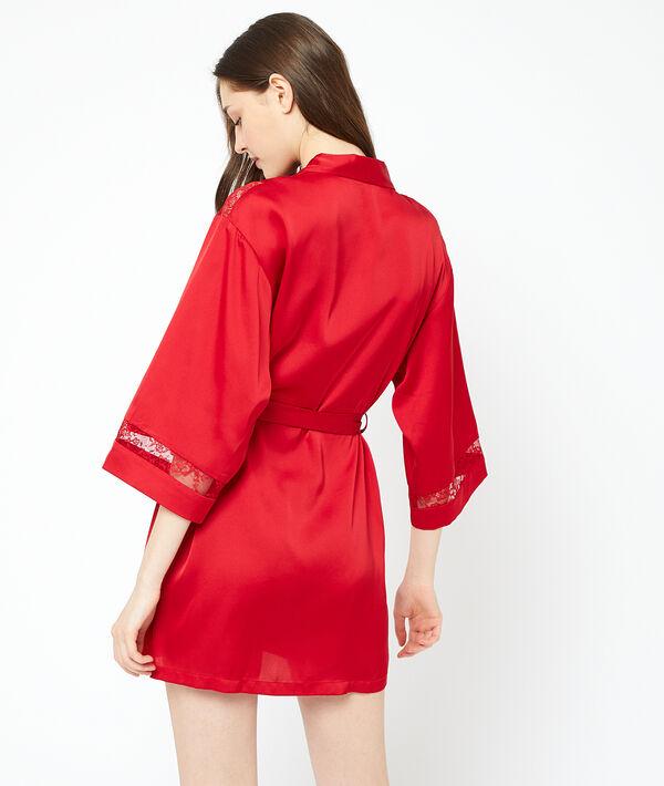 Kimono détails dentelle
