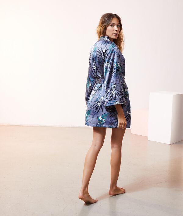 Kimono satiné doublé polaire;${refinementColor}