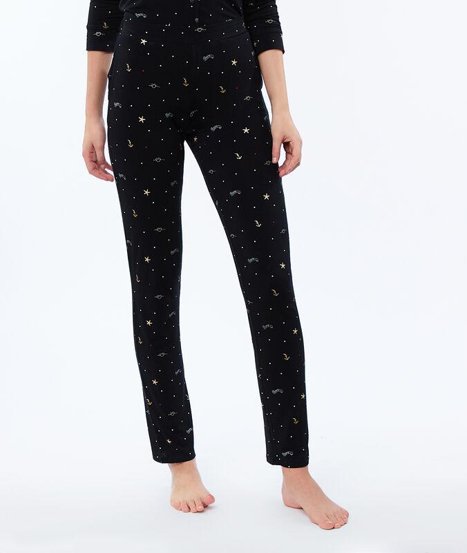 Pantalon imprimé noir.