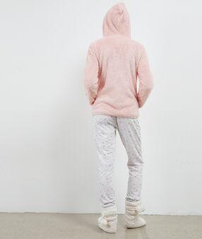 Pyjama trois pièces imprimé moutons rose.
