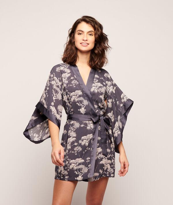 Kimono imprimé fleuri;${refinementColor}