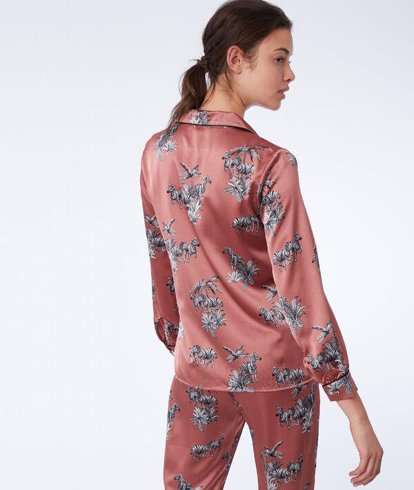 Chemise de pyjama imprimé zèbres