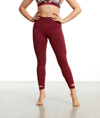 Legging de yoga court;${refinementColor}