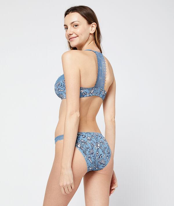 Culotte bikini à imprimé floral
