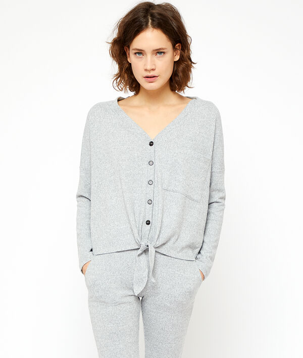 Gilet homewear noué;${refinementColor}