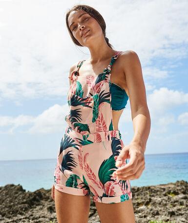 Combi-short de plage multicolore.