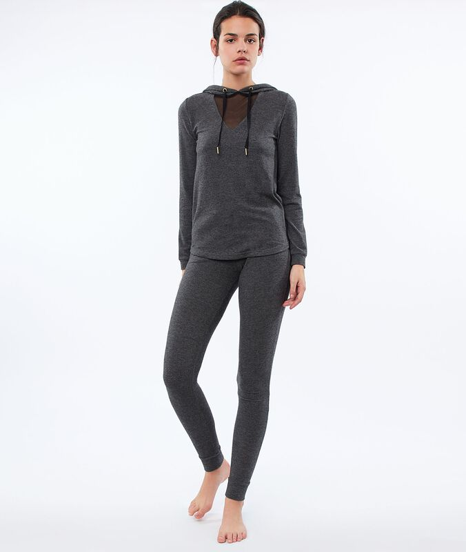Pantalon legging homewear gris.