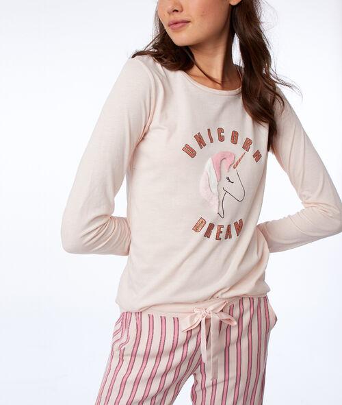 T-shirt manches longues licorne