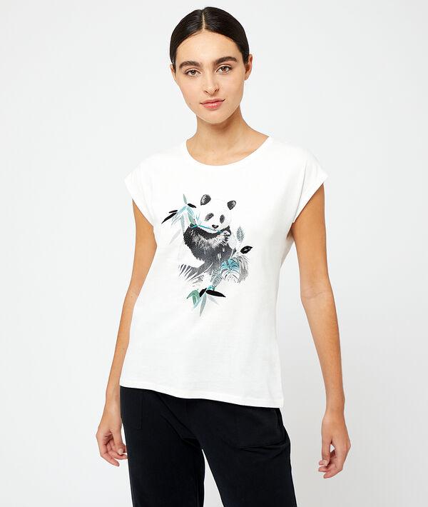 Top imprimé panda en coton