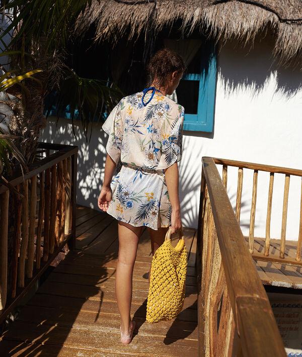 Tunique de plage, imprimé floral;${refinementColor}