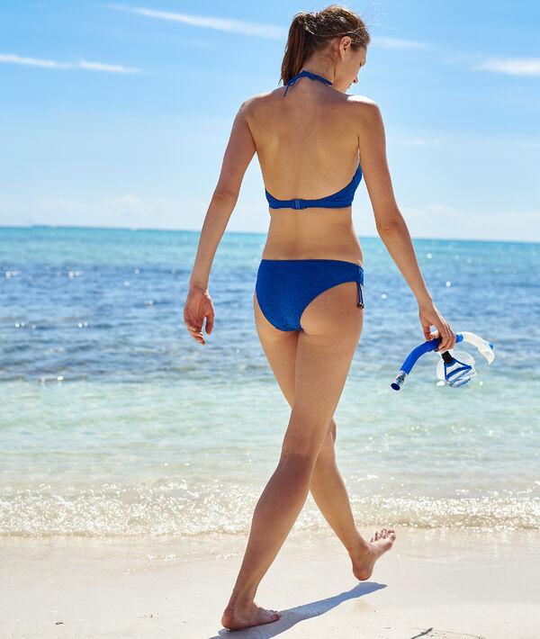 Bas de bikini simple à nouettes