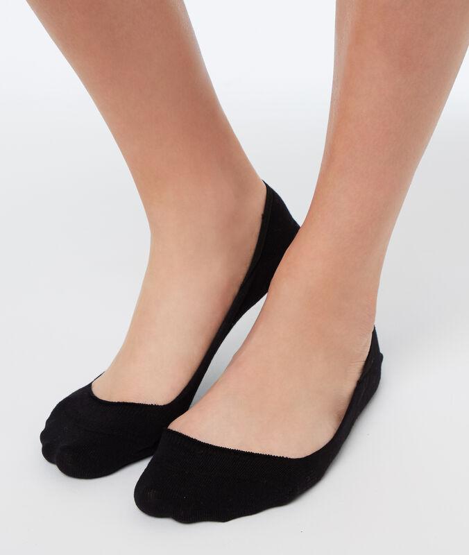 2 paires de protèges pieds noir.