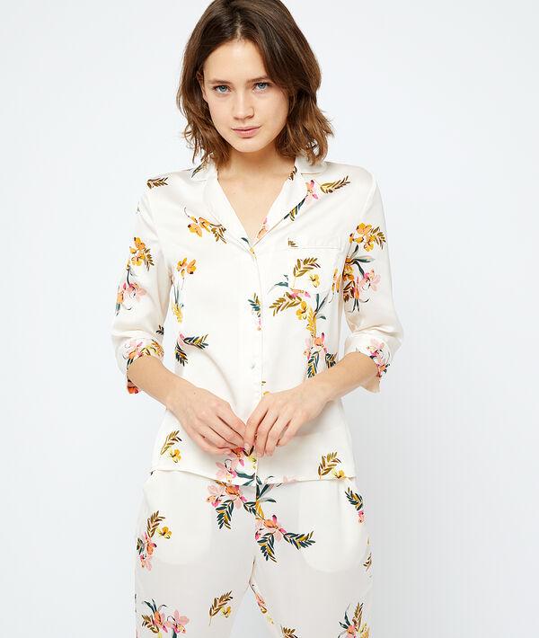 Chemise de pyjama satinée;${refinementColor}