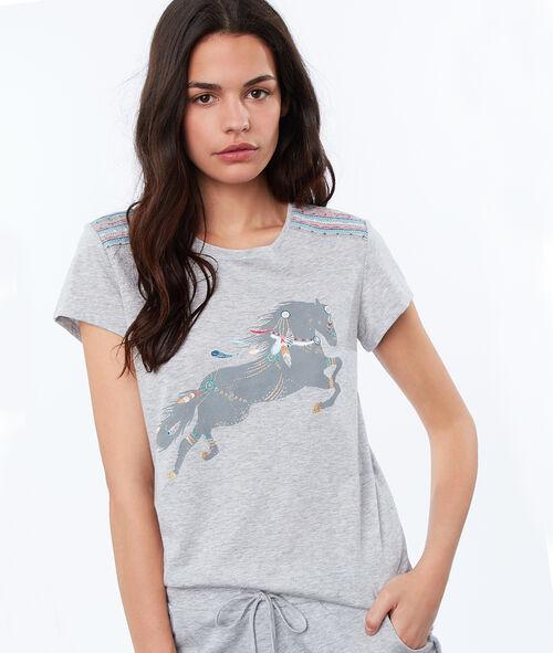 T-shirt imprimé cheval