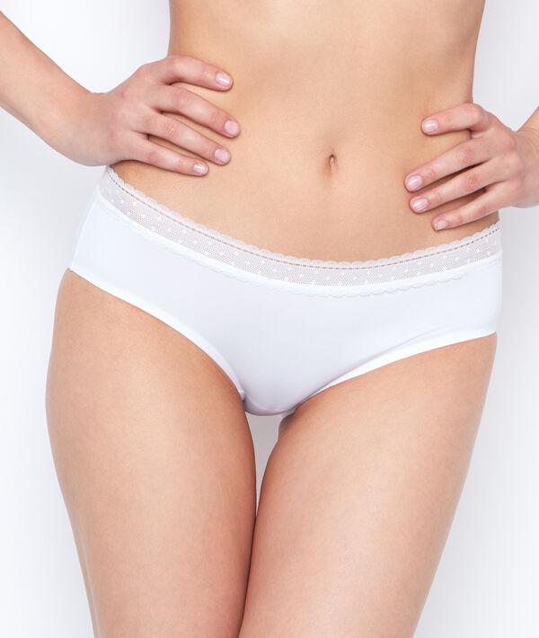 Shorty micro et dentelle - PURE FIT® - S - Blanc - Femme - Etam