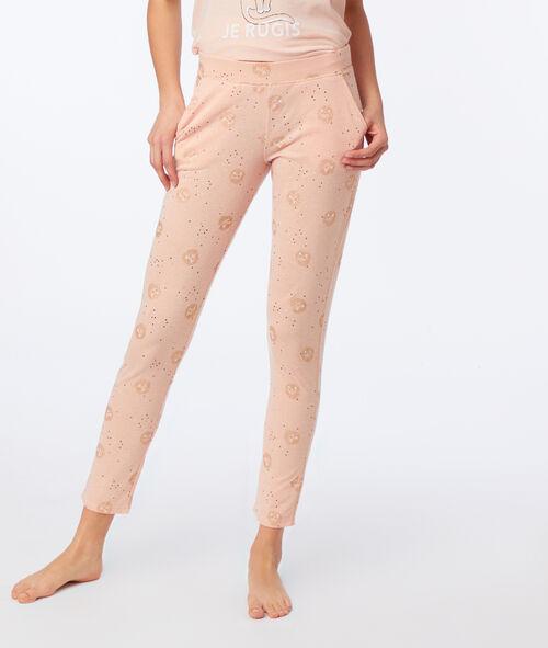 Pantalon à motifs chat