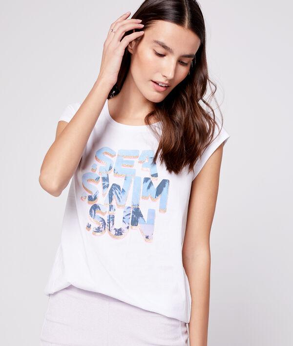 """T-shirt """"Sea, swim, sun"""" 100% coton"""