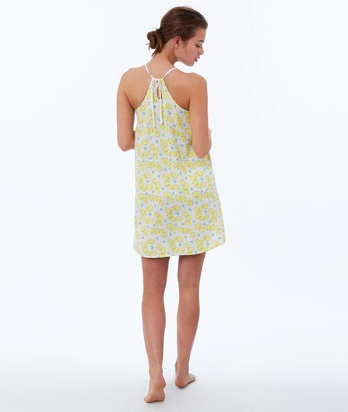 Chemise de nuit imprimée citron