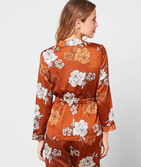 Chemise de pyjama imprimé floral