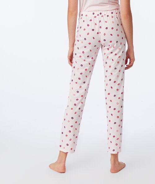Pantalon à motifs bisous