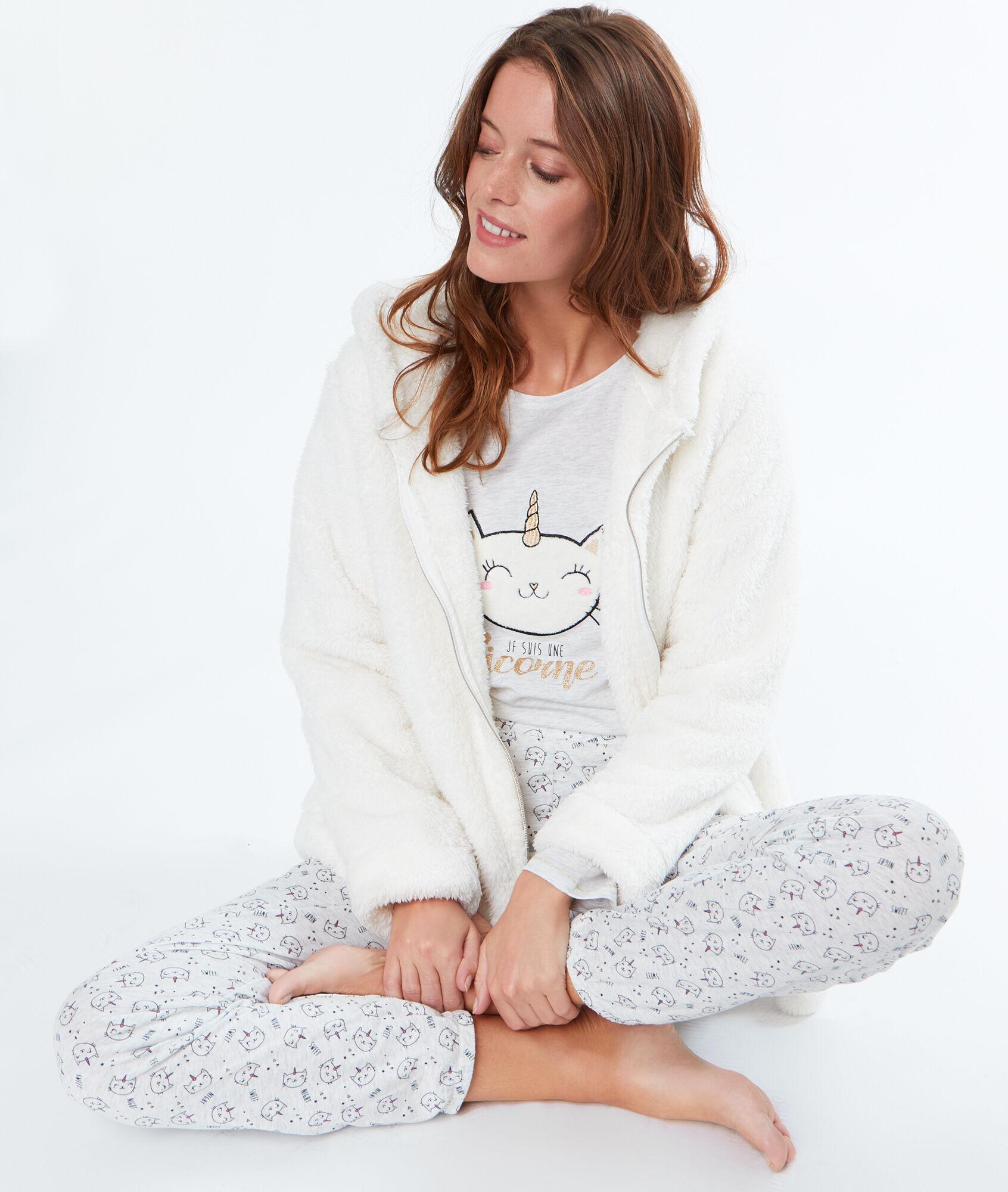 Pyjama 3 pièces chat licorne - OBER - BEIGE