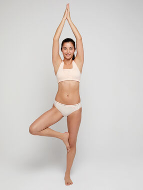 Culotte seamless, coutures invisibles rose.