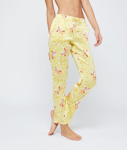 Pantalon satiné à fleurs;${refinementColor}