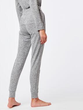 Pantalon homewear noué gris.