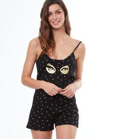 Combishort catwoman noir.