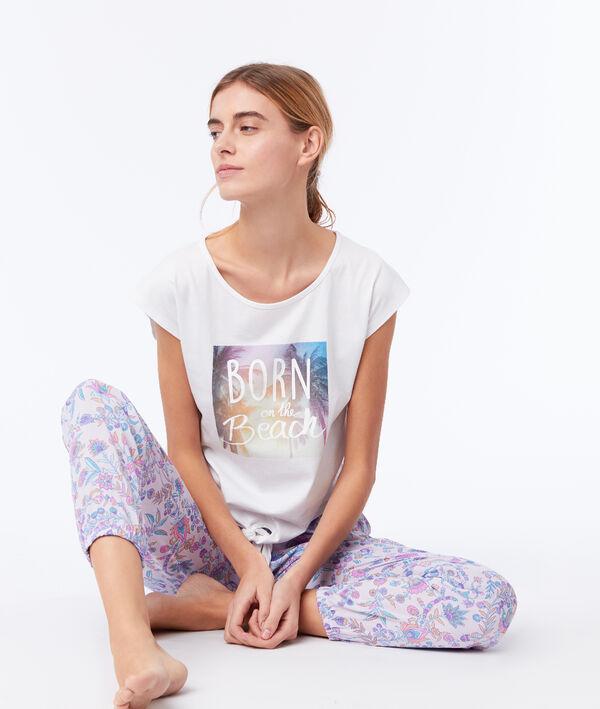 """T-shirt noué """"Born on the beach"""""""