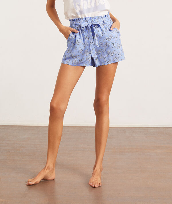 Short de pyjama imprimé bandana;${refinementColor}