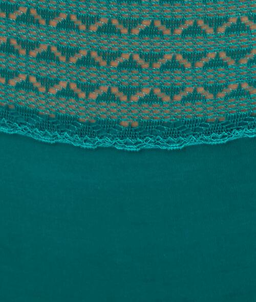 Hipster microfibre et dentelle, détail strass