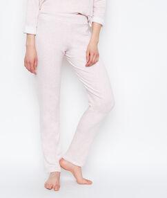 Pantalon coupe classique rose.