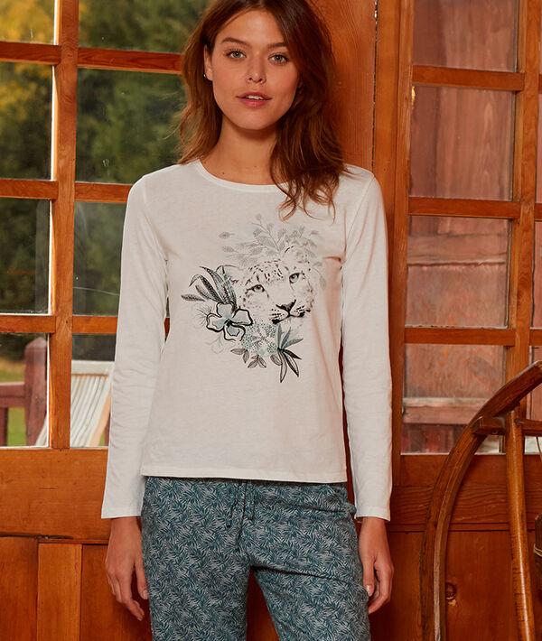 T-shirt imprimé panthère en coton