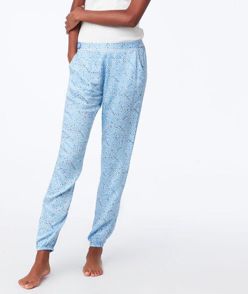 Pantalon à petites fleurs