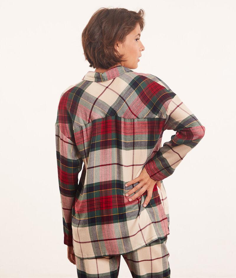 Chemise de pyjama à carreaux;${refinementColor}