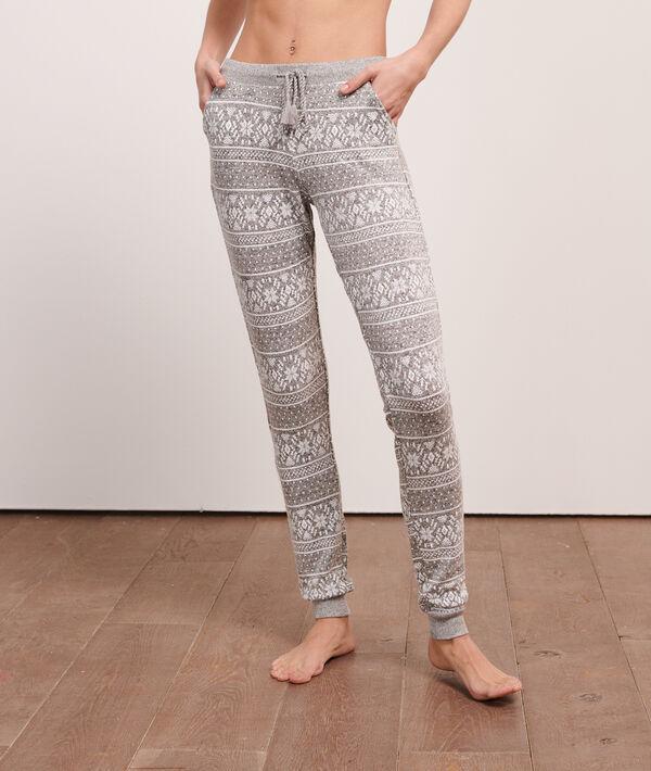 Pantalon imprimé jacquard;${refinementColor}