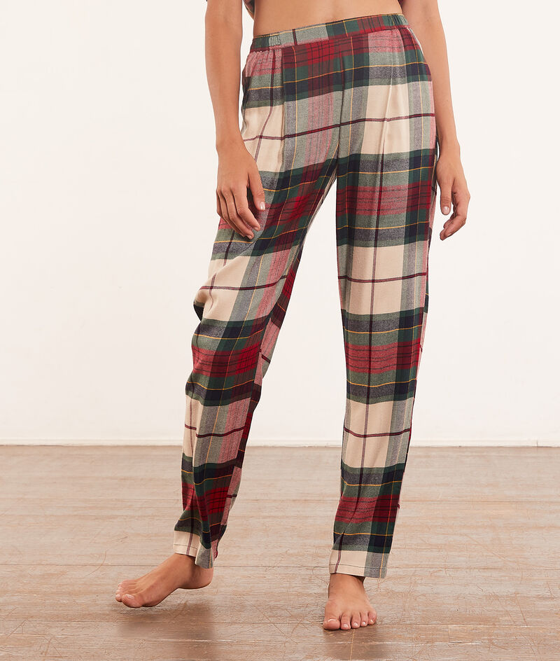 Pantalon de pyjama à carreaux;${refinementColor}