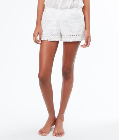 Short broderie anglaise blanc.