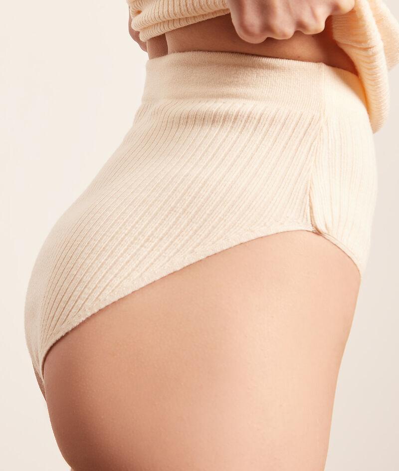Culotte taille haute en maille;${refinementColor}