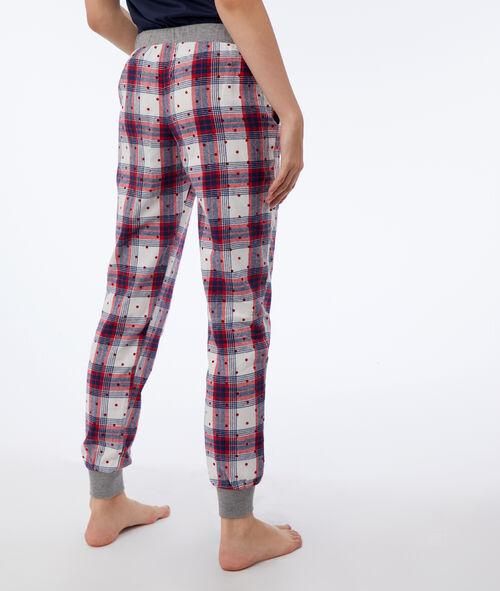 Pantalon à carreaux et pois