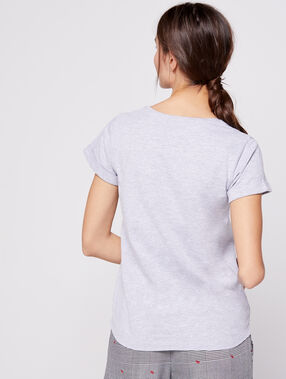 "T-shirt ""love"" snoopy gris."