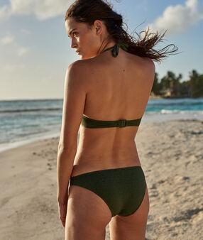 Bas de bikini simple kaki.