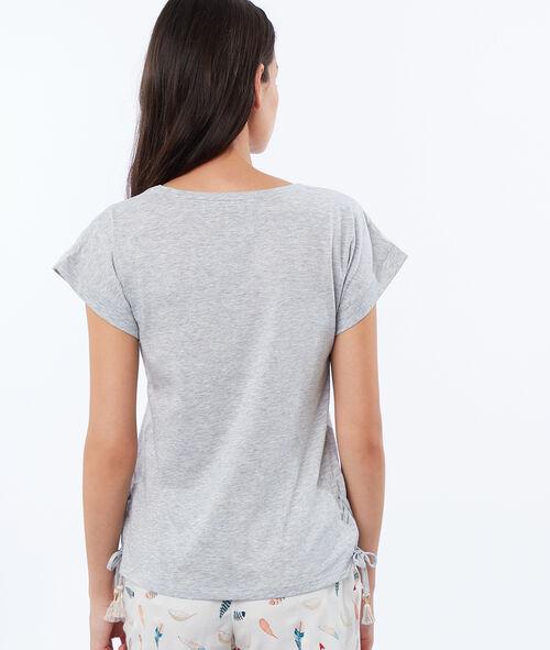 T-shirt imprimé coiffe indienne
