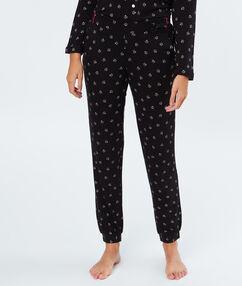 Pantalon de pyjama noir.