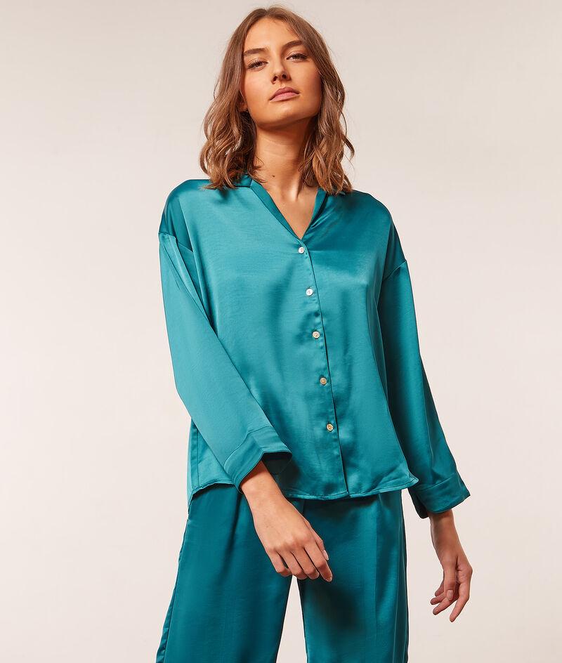 Chemise de pyjama satiné;${refinementColor}