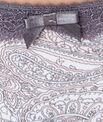 String micro imprimé cachemire, empiècement dentelle