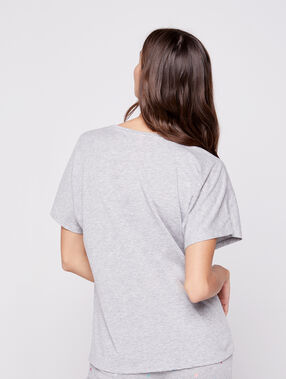 T-shirt imprimé ananas gris.