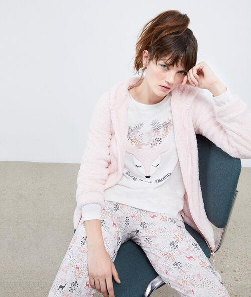 Pyjama trois pièces biche