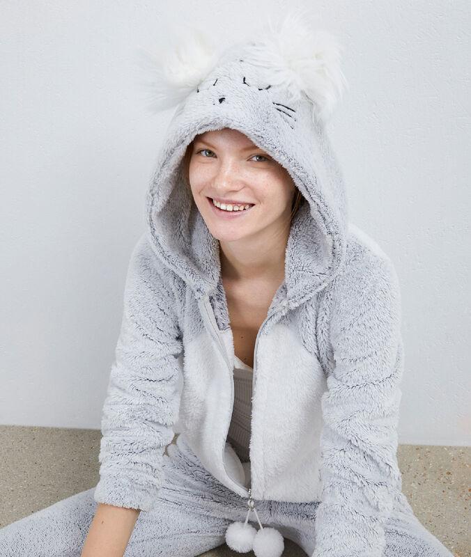 Combinaison pyjama souris gris.